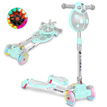 CHHMAELOVE Scooter con Led Luces Manillar,Patinete ...