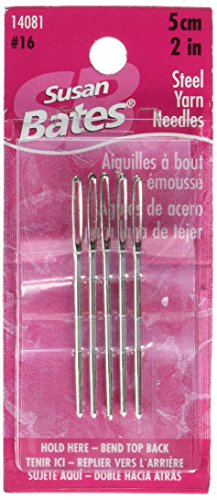 Susan Bates Steel Yarn Knitting Needle, 2-Inch, 5 Per Package