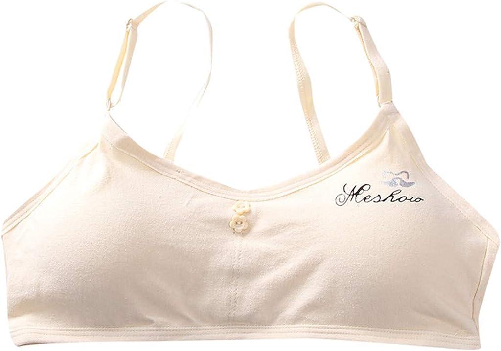 MORECON Kids Girls Underwear Adjustable Bra Vest Children Underclothes Undies Clothes