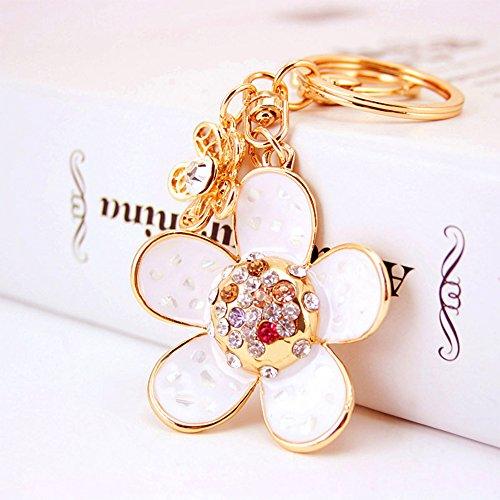 Jzcky Shzrp Daisy Flowers Crystal Rhinestone Keychain Key Chain Sparkling Key Ring Charm Purse Pendant Handbag Bag Decoration Holiday Gift