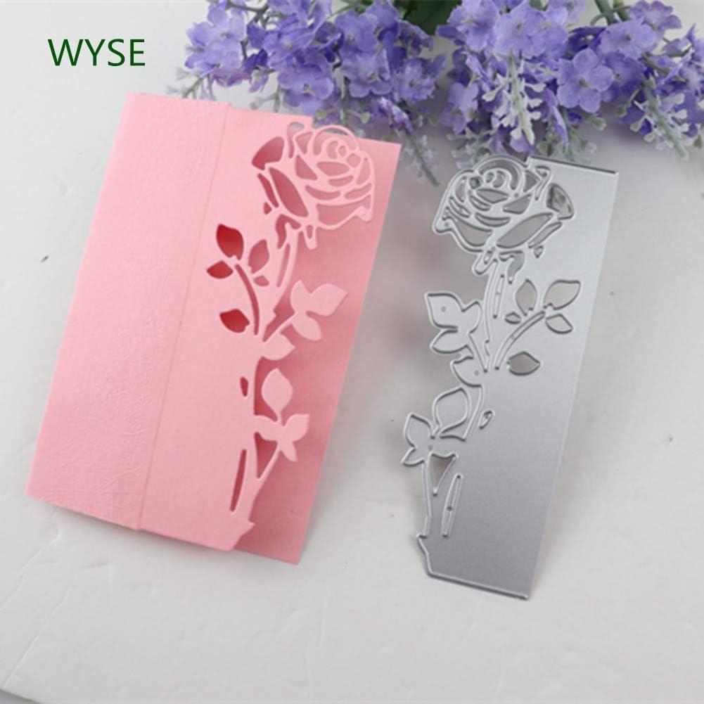 WYSE Metal Cutting Dies Flower Die Cuts for Scrapbooking Card Making Tools Rose Dies