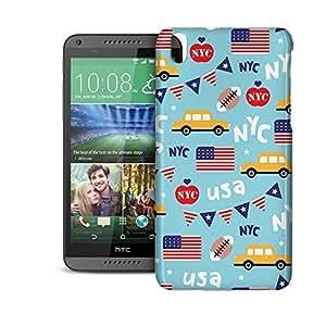 Phone Case For HTC Desire 816 - The Big Apple New York USA Designer Wrap-Around