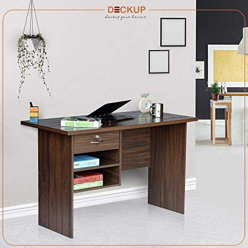 Deckup Giona Office Desk and Study Table (Walnut, Matte Finish)