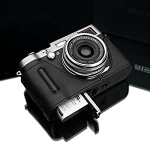 Gariz Genuine Leather BL-X100BK Camera Metal Half Case for Fuji Fujifilm X100 X100S with Hand Grip, Black Label Edition
