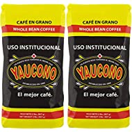 Yaucono Whole Bean Coffee in Bag, 2 Pound (Pack of 2)