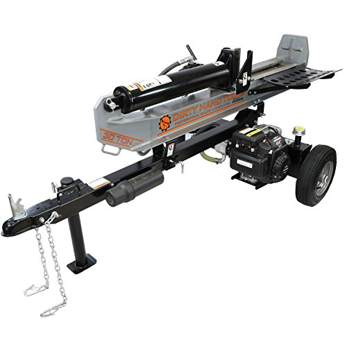 Dirty Hand Tools 107040 – Horizontal/Vertical Log Splitter – 30 Ton with Honda Engine