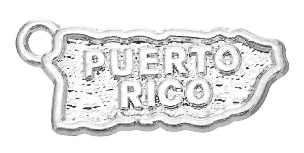 30 colgantes con diseño de mapa de Puerto Rico, para hacer joyas y ...