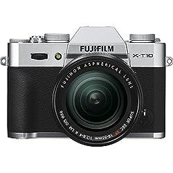 Fujifilm X-T10 Fotocamera Digitale con Obiettivo Zoom XF18-55 MM F2.8-4 R LM OIS, Argento