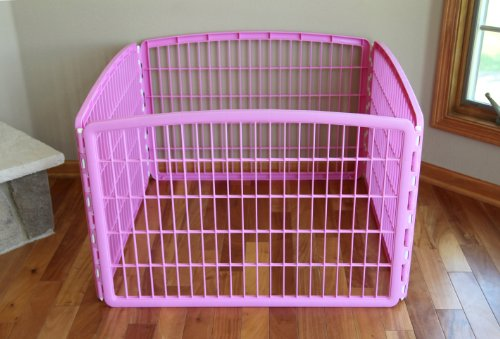 IRIS-24-Exercise-4-Panel-Pet-Playpen-without-Door-Pink