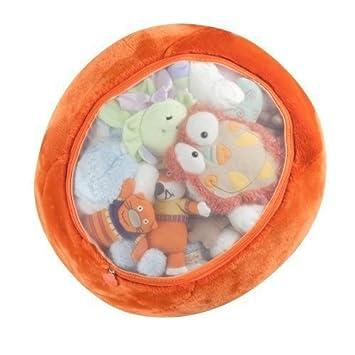 Amazon Com Boon Animal Bag Stuffed Animal Storage Orange Plush