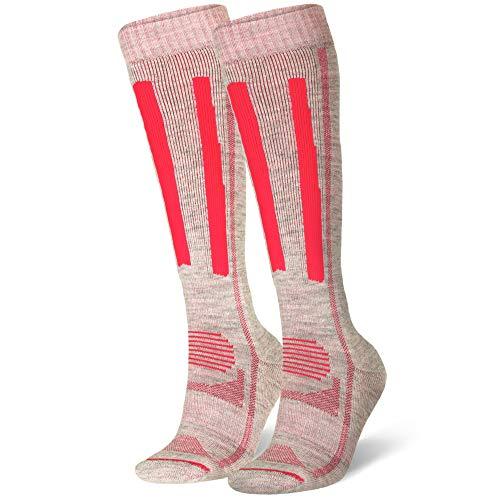 Alpine Performance Socks (US Women 5-7 // US Men 3.5-6, Light Grey/Pink 1-pack)