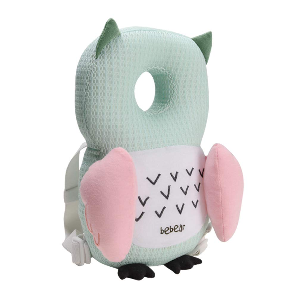 Pink Cute Pig Bebamour Baby Headrest Pillow Breathable Head Protector for Toddlers Safety Head Protection Pillow for Infant Walking Adjustable Protective Cushion for Babys Head