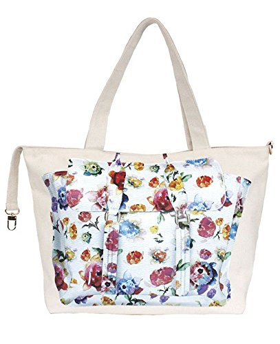 Thursday Friday Zippy Something Bag, Watercolor Floral