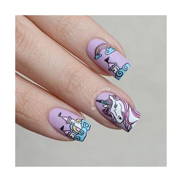 BORN PRETTY 1Pc Rectangle Stamping Plate Unicorn Pattern Manicure Nail Art Plate Harunouta L045 11