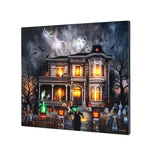 Timeless by Design Lighted Musical Magic All Hallow's Eve Halloween Canvas