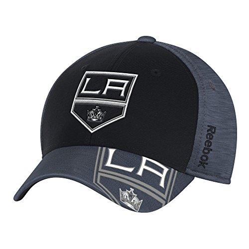 Reebok NHL Los Angeles Kings Adult Men Playoff Team Cap, Large/X-Large, Black