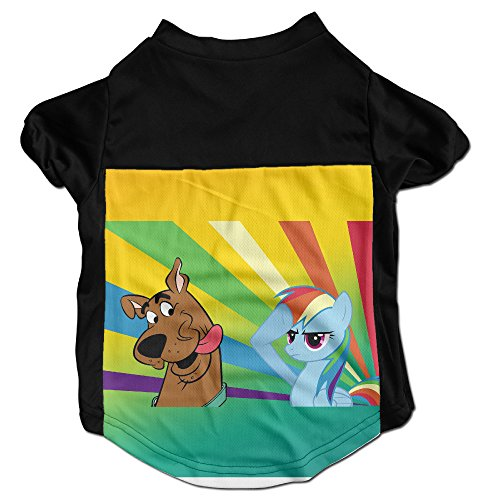 [101Dog Scooby Doo With My Little Pony Pet Doggie Jersey T Shirt Large] (My Little Pony Costume For Dogs)