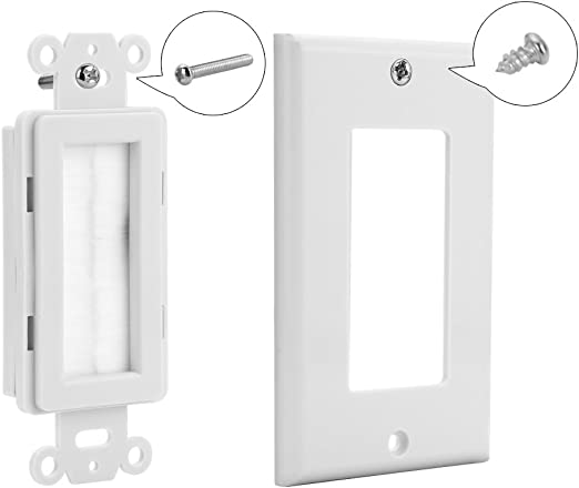 TNT Decora Single Gang White 50 Pack One Gang Wall Plate