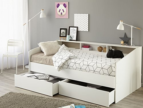 PARISOT 2338-ENSE Einzelbett Sleep 1 90x200 CM B/H/T Ca. 203x82x113 CM In Weiss