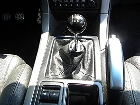 Black Leather-Black Thread RedlineGoods Shift Boot Compatible with Pontiac GTO 2004-06
