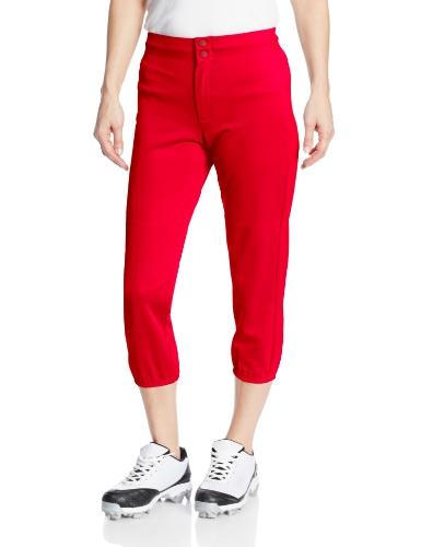 Intensity Women's Low Rise Double Knit Pant, Large, Scarlet