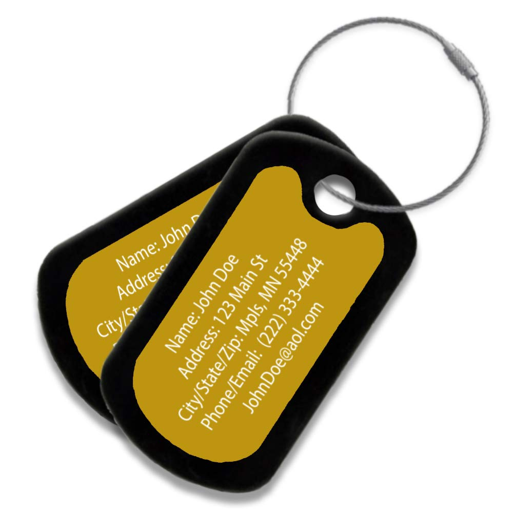 Highly Durable Anodized Aluminum Multi Pack Customized Travel ID Tag - Luggage Tag - Personalized ID Travel Tag - Engraved Luggage Tag (8 Pack) by Performance IDs