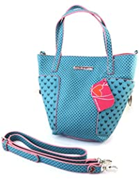 3456950513b Designer bag 'Agatha Ruiz De La Prada'turquoise - little hearts.