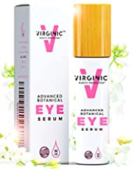 Eye Serum Cream Roller Bottle 0.4 OZ With Vitamin A And E For Dark Circles Puffiness Bags Wrinkles Fine Lines Face Gel Oil Great Results After Using Natural Moisturizer Above Organic Vegan Lifting