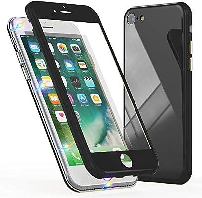 NALIA 360° Funda de Vidrio Compatible con iPhone 8/7, Magnética Carcasa Integral Completa con Cristal Templado, Ultra-Fina Cubierta Móvil Protectora ...