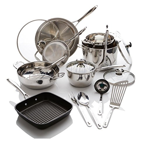 Cookware 17pc Set Stainless - Wolfgang Puck Bistro Elite 17-piece Stainless Steel Cookware Set