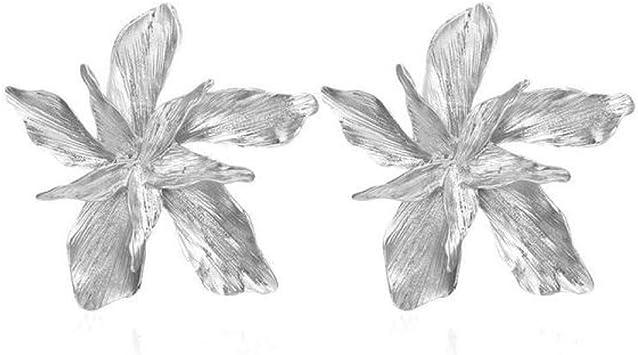 AIERSHI Las Niñas Pendientes Irregulares Forma De Flor Exageración ...