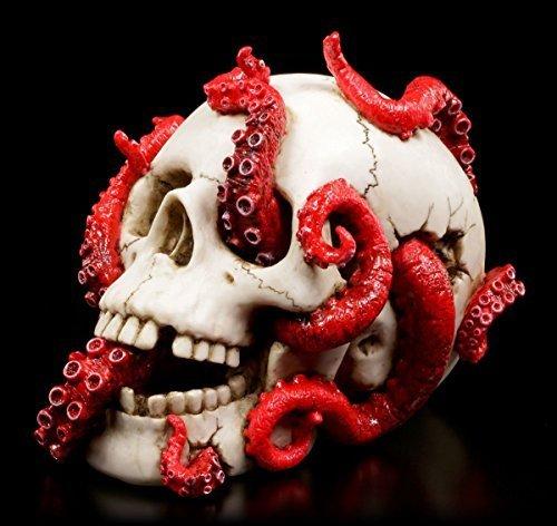 Horror Totenkopf mit Tentakeln - Schädel Deko Figur Krake Veronese
