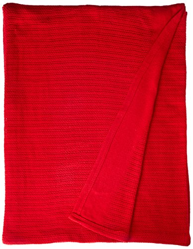Fiesta Thermal Cotton Blanket, King, Scarlet