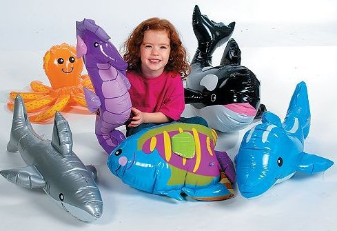 Under The Sea Party (Under The SEA INFLATABLES: Whale, Dolphin, Octopus, Shark, Rainbow Fish, and SEA)