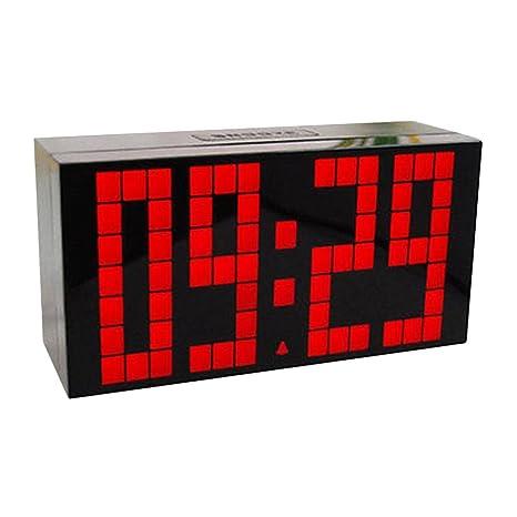 Lorsoul Moda Ministerio del Interior LED Digital Grande Snooze Colgar de la Pared de Habitaciones Calendario