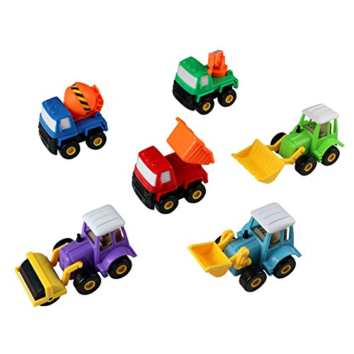 Pull Back Car Toys Construction Vehicles Set Different Truck Vehicles Model Set Great Gift for Kids 6pcs