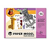 Jar Melo 3D Paper Model; Folded Paper Kit; Cute Animal; Assembly Paper; Paper Craft;