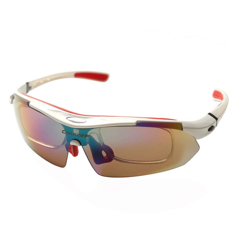 JohnJohnsen Ultra Ligero Hombres Mujeres polarizada Gafas de Sol de Ciclo MTB UV400 Gafas de Deporte de la Bicicleta de Ciclo de los vidrios de Eyewear Protect (Azul)