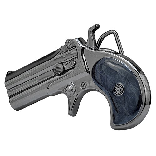 Price comparison product image Buckle Rage Adult Unisex Derringer Handgun Pistol Gun Revolver Belt Buckle Black