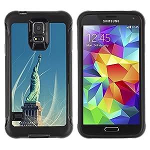 LASTONE PHONE CASE / Suave Silicona Caso Carcasa de Caucho Funda para Samsung Galaxy S5 SM-G900 / Architecture Statue Of Liberty