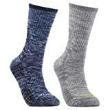 YUEDGE Men's Wicking Cushion Performance Hiking Crew Casual Business Socks For Outdoor Sports