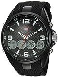 U.S. Polo Assn. Men's Analog-Quartz Watch with Rubber Strap, Black, 27 (Model: US9596)