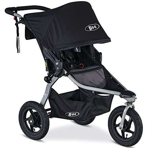 BOB Rambler Jogging Stroller - Black with FREE Diaper Bag by BOB (Image #1)