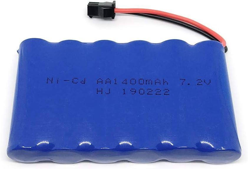 Gecoty/® Batterie Rechargeable 7,2 V 1400 mAh Ni-CD pour Jouets radiocommand/és /éclairage Outils de s/écurit/é Prise SM 2P