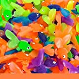 small plastic fish - Rhode Island Novelty Vinyl Goldfish - 144 pieces - Assorted Colors - 1 3/4 inch long