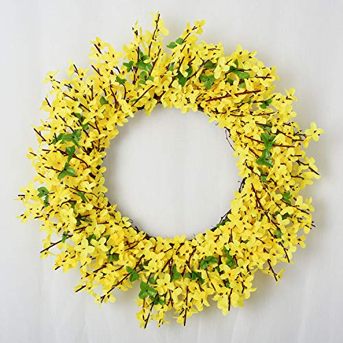 Lvydec Artificial Forsythia Flower Wreath - 17