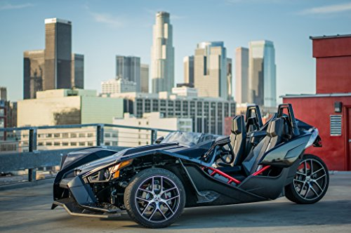 Polaris Slingshot (2016) Car Print on 10 Mil Archival Satin Paper Black Front Side Static View - To Australia Usps Shipping