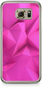 Samsung Galaxy S6 Transparent Edge Phone Case Pink Geometrical Phone Case Geometry Pattern Samsung S6 Cover with Transparent Frame