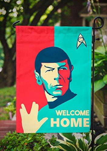 Star Trek Garden Flag | Spock Welcome Home | 12.5 x 18 in (Star Trek United Federation Of Planets Blue Flag)