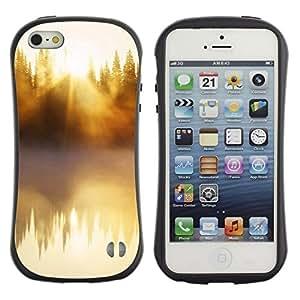 Suave TPU GEL Carcasa Funda Silicona Blando Estuche Caso de protección (para) Apple Iphone 5 / 5S / CECELL Phone case / / Nature Beautiful Forrest Green 48 /